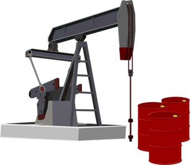 Oil Pumper and Barrels