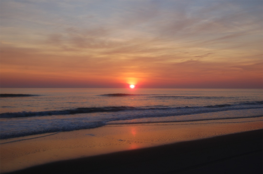 , sunrise, shore, tide, morning, east dawn, atlantic, coast, sunrise