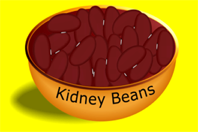 Bowl with Kidney Beans