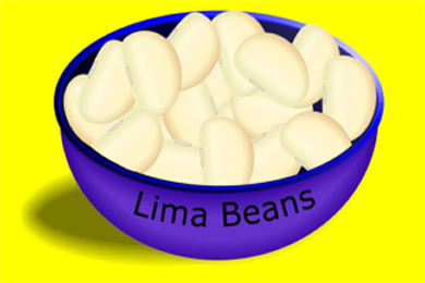 Bowl with Lima Beans