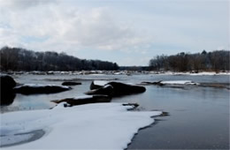 James River in Snow