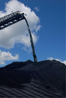 coal pile and shoot