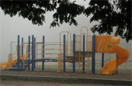 fog on a playground