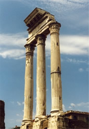 columns in the roman forum