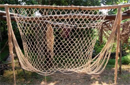 native american fishing net