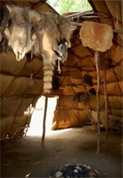 inside native american longhouse