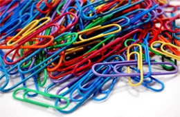 Plastic Covered Colored Paper Clips